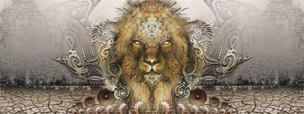 Lion-emerging-from-Desert