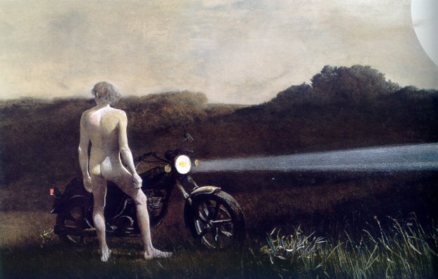 Wyeth, Andrew Man and The Moon, 1990