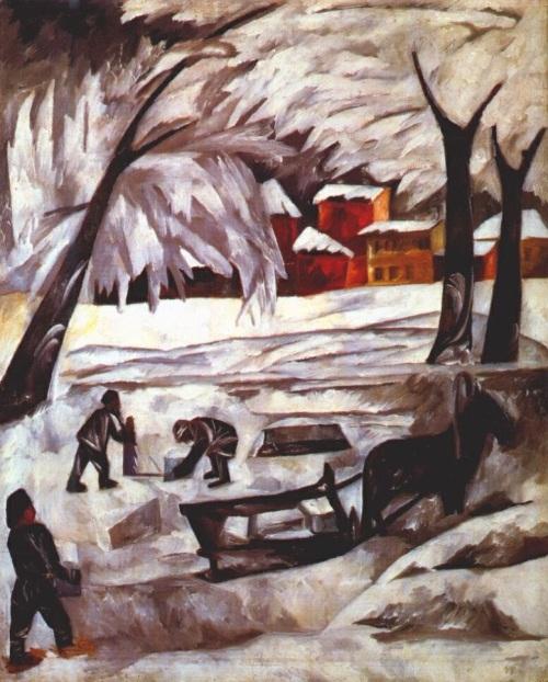 the-ice-cutters 1911 Natalia Goncharova